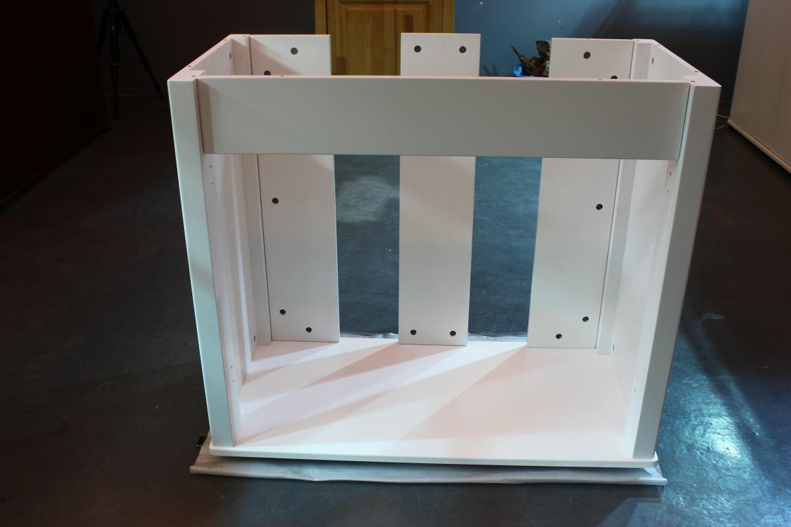 90系列迪茨实木鱼缸底柜安装方法